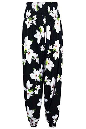 Be Jealous - Legging - Sans Manche - Femme * Black White Floral
