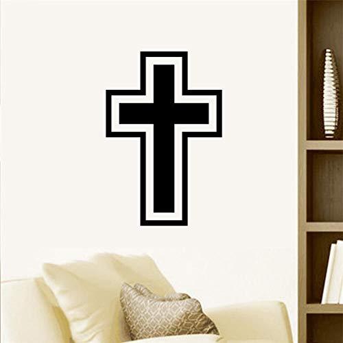 Kreuz Christian Entfernbare Wandaufkleber Jesus Christus Beten Bibel Segnen Wohnkultur Kirche Vinyl Dekoration Wohnzimmer Schlafzimmer a47 wangzhanping -