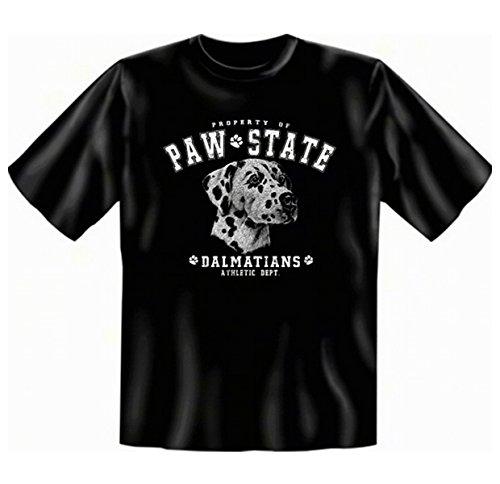 Für den Hundefreund und Tierliebhaber: Dalmatiner T-Shirt Farbe schwarz Schwarz