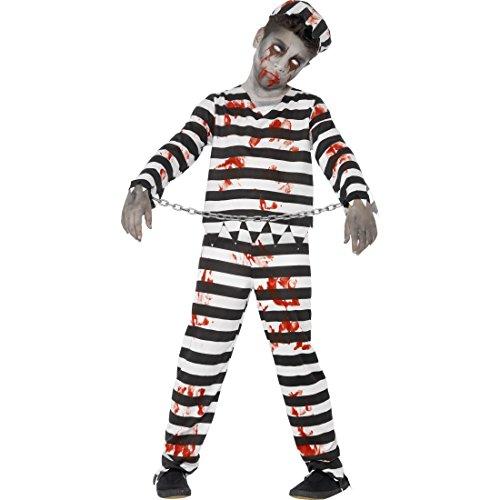 ling Zombiekostüm Kind T, über 12 Jahre, 152 - 163 cm Sträflingskostüm Halloween Horror Zombie Kostüm Gefangener (Kind Gefangener Kostüm)