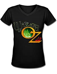Destroy MomentWomen's The Wizard Of Oz Spring V Neck Short Sleeve T Shirt