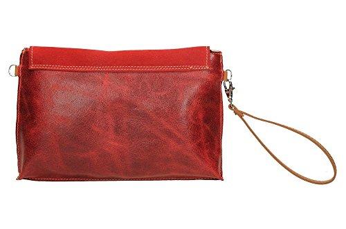 ANTHER BL2150, Borsa a tracolla donna Multicolore colori assortiti Multicolore (rosso)