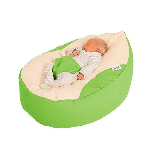 rucomfy Sitzsack Luxury Cuddle Soft Gaga Baby Sitzsack (Lime Grün)
