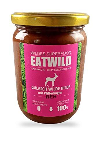 EATWILD – GULASCH WILDE HILDE - Reh mit Pfifferlingen 340g (18,28€ / kg)