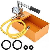KKmoon Comprobador de presión de agua de cobre 2,5 MPa 0 – 40 kg máquina de prueba hidráulica manual con manguera G1/2 pulgadas