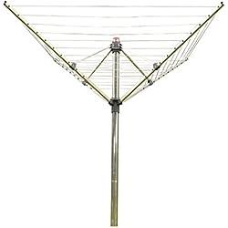 Vileda séchoir extérieur parapluie Viva Air Sunshine Premium - 40m de capacité de séchage + housse de protection + douille d'ancrage - ref 152465