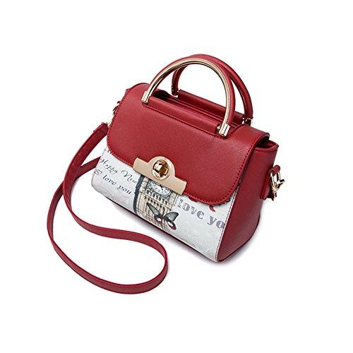 Pacchetto di personalità di moda estate, versione coreana dello zaino del sacchetto di spalla, borse selvaggi, borse ( Colore : Vino rosso ) Vino rosso