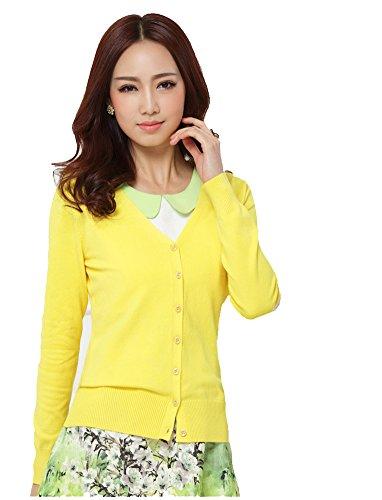 Amayar Women Basic Spring Button Down Cardigan