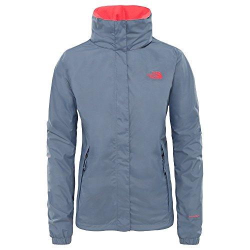 THE NORTH FACE Resolve 2 Jacket Women Größe XL Grisaille Grey/Atomic pink Damen Nylon Jacke