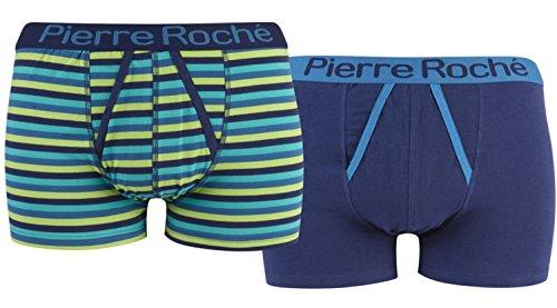 Pierre Roche Herren Boxershort Blau - Blue Green