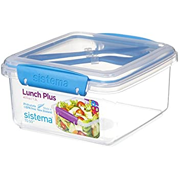 Sistema 1.8L Lunch Stack to Go Rectangle Purple