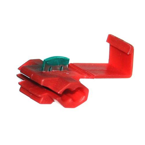 Preisvergleich Produktbild 100 Schnellverbinder ROT Stromdieb 0,5-1,5mm² Kabelabzweiger POWER SPLITTER Quetschverbinder Otto-Harvest