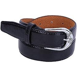 zolimx Cinturones de mujer, Accesorios vintage Casual ocio delgado correa (Talla única, negro)