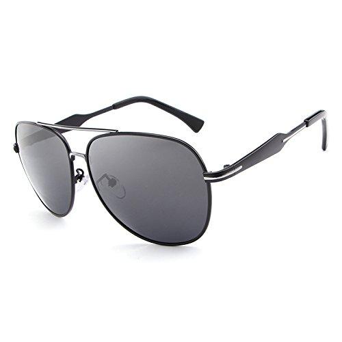 House full of romance Mode Beste Männer Flieger Polarisierte Sonnenbrille Bunte Linse Cool Eyewear Retro Oculos De Sol Mit Fall gut aussehend (Color : Black)