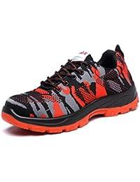 Adong Seguro Laboral Zapatos de Trabajo Seguridad Zapatos Hombres de Acero Dedo del pie construcción Botas