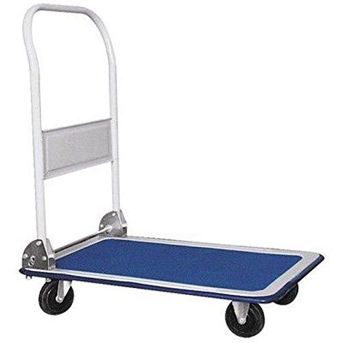 Vehículo de transporte carretilla de almacén - Capacidad de carga de 300 kg 88 x 58 cm