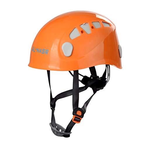 WT-HUWAI Kletterhelm Verstellbares Kopfband Höhe Ausdauer Bergab Sicherheit Rettung Unisex (Color : Orange) -