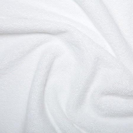 Kadusi Tela de rizo color blanco para toallas