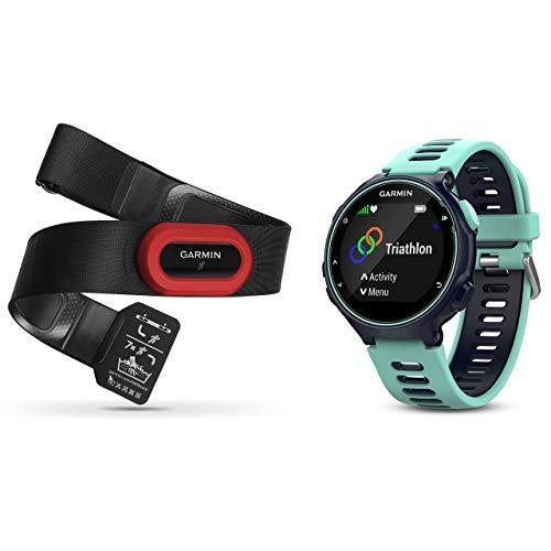 Garmin Forerunner Pack 735XT - Pack de reloj multisport con HRM-Run, tecnología pulsómetro integrado, unisex, color turquesa y azul
