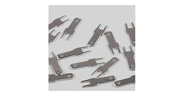 Lot de 10 cosses /à souder 6,3 mm Connecteur PCB DJ611