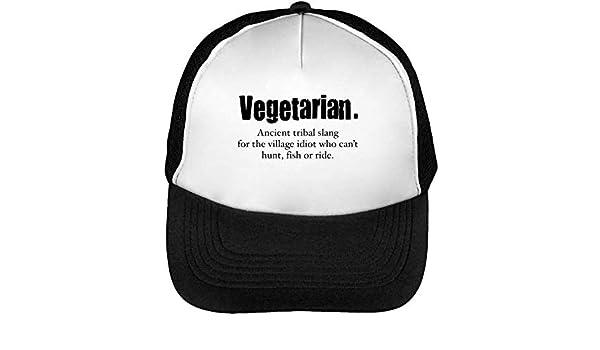 Vegetarian meaning quote trucker cap herren damen schwarz weiß