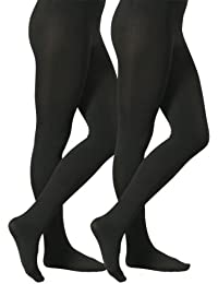 VCA - Lot de 2 collants confort chauds Thermo pour femme - noir