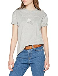 ONLY Women's Regular Fit T-Shirt (15156474_Bright White_L)