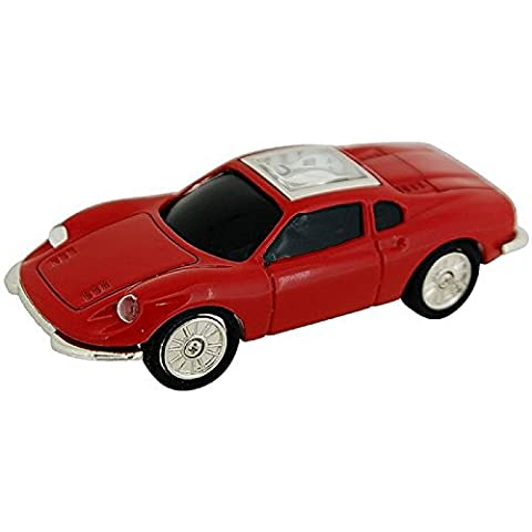 Miniature Sports Car Red Metal Novelty Quartz Movement Collectors Clock 9134
