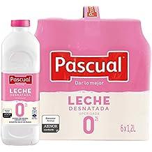 Pascual Leche Desnatada 0% - Paquete de 6 x 1200 ml - Total: 7200