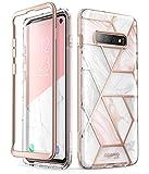 i-Blason Hülle für Samsung Galaxy S10 Handyhülle Glitzer Case Bumper Robust Schutzhülle Glänzend Cover [Cosmo] OHNE Displayschutz 2019 Ausgabe (Marmor)