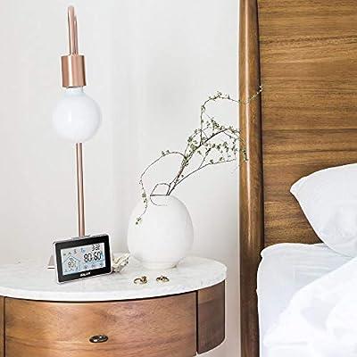 Wetterstation Funk mit Außensensor, BALDR Digital Thermometer-Hygrometer für Innen und außen, Hintergrundbeleuchtung und aktuelle Uhrzeit, schwarz von Baldr - Du und dein Garten