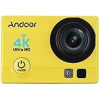 """Andoer 4k 1080P Wifi Cam 16 MP Action Camera 5,08 cm (2"""") Ultra HD LCD 170° con Lenti Grandangolari da 30M con Custodia Impermeabile"""