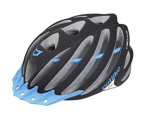 Casco da ciclismo Catlike Vacuum, adulto unisex, multicolore (nero -Blue opaco), LG / 58-60 cm