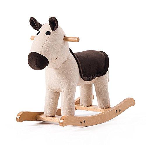 Sofa Stuhl Kinderschaukelstuhl Kreative Tiermodell Massivholz Fußbank Baby Cartoon Spielzeug (Farbe : A)
