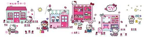 Worlds Apart 553HTT ReadyRoom Hello Kitty Stick a Story Wall Stickers (Kitty-bilder Für Hello Die Wand)
