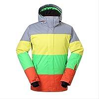 HXRYFC Hombres Chaqueta Impermeable, esquí a Prueba de Viento Invierno Chaquetas Calientes con Capucha,