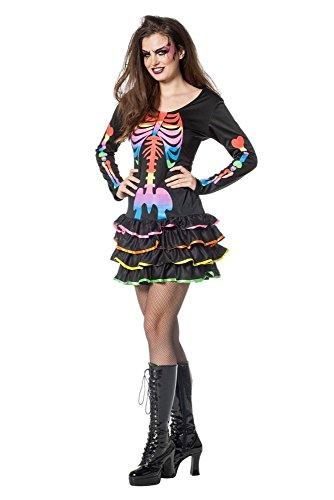 ogen Skelett Karneval Fasching Halloween Gr.42 ()