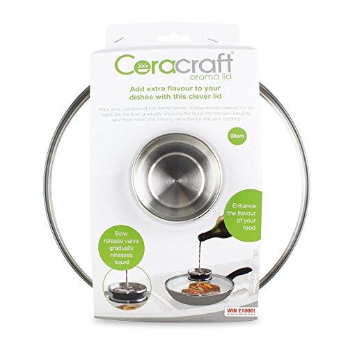 JML Aroma Pan Lid for Stone/Ceracraft Pans - Slowly Releases Liquids - 28cm