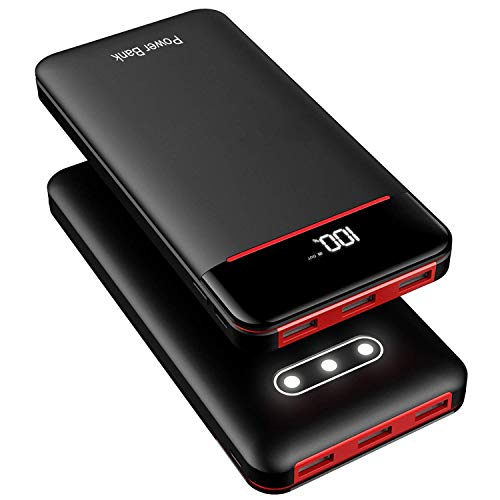 RLERON Externer Akku 25000mAh Powerbank, Hohe Kapazität Power Bank mit 3 USB-Output und 2-Input, Tragbares Ladegerät für Smartphones, Tablette