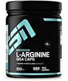 ESN L-Arginine Giga Caps – 300 Kapseln – hochwertiges ultrafeines L-Arginin – 50 Portionen – vegan – Made in Germany