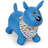 Ludi 2776 - Mon Chien Bleu Sauteur Cachorro inflable y Cavalcabile, Azul