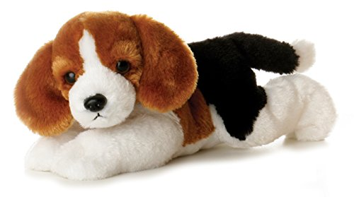Aurora World - Perro Beagle Homer de Peluche Flopsies, 20 cm