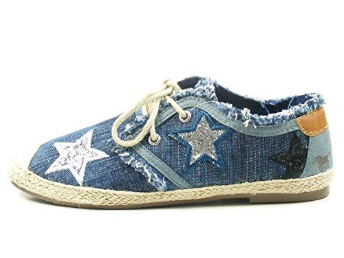 Mustang - Zapatillas para mujer, Azul (841 Jeans Azul), eur 41