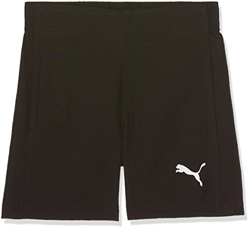 PUMA Kinder Liga Sideline Woven Shorts Jr Hose, Black White, 176