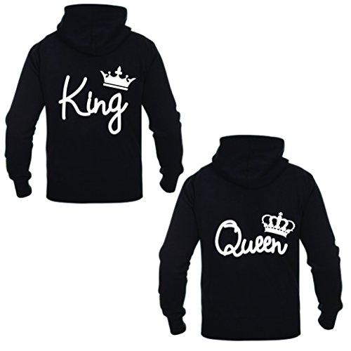 Coppia Di Felpe King & Queen Elegance Grigio