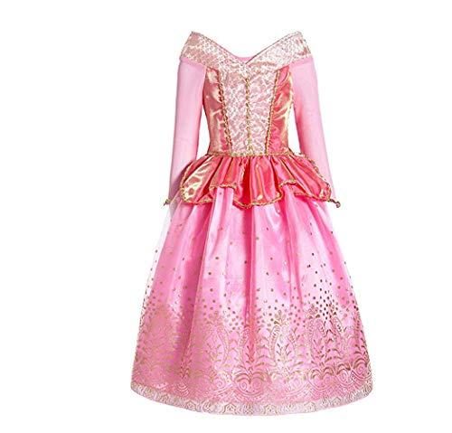 Yamyannie Halloween Kostüm Kind Party Dress Queen Kostüm Prinzessin Cosplay Verkleiden Sich Mädchen Prinzessin Verkleiden Sich Aurora Kostüm Festliches Kostüm für Mädchen (Größe : S (100-110cm))