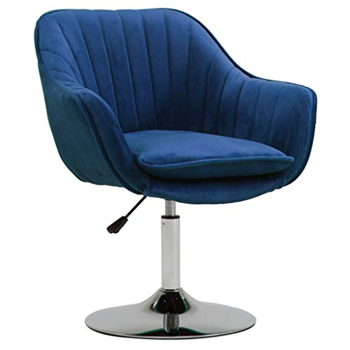 Comif- Velvet Coffee Chair, Heimtextilien-Computerstuhl, höhenverstellbar, abnehmbares Sitzkissen, Scheibenfuß aus massivem Stahl (Mehrfarbig optional) -
