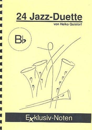 24 Jazz-Duette in Bb Spielpartitur (Klarinette/Trompete/Tenorhorn/Flügelhorn)