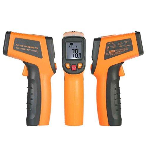 Berührungslose IR-Infrarot-Thermometer Digital-LCD Temperaturmessung Pyrometer -50 bis + 600 ° C für die Industrie Home Use Regard