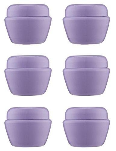 MYLL 6 Pezzi 50ML/50g Barattoli di Plastica Vuoti per Cosmetici Contenitori Creme Piccoli con Coperchio Vasetti di Ombretti/Nail Art/Gel per